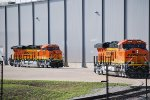 BNSF 8368 and BNSF 8369 get prepared by the GE crews for the BNSF Test Crew who will take them both on their First Operational run.