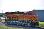 BNSF 8369 waits for Her BNSF Test Crew on the GE entrance Track to the BNSF Main Line.