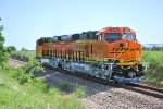 BNSF 8369 and BNSF 8368 Pass me by in this close up shot as they head northbound on Main Track 1 of the Fort Worth Sub.