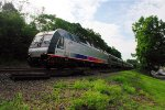 NJT 4520 pushing south through Ho-Ho-Kus NJ