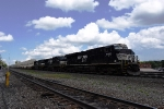 NS 7705 leads a stack train west