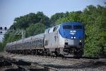 Amtrak 91 leads Pennsylvanian east