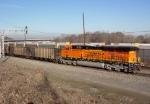 BNSF 5767 (pusher) heading north thru the NS Inman Yard