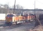 BNSF 5781 heading north thru NS Inman Yard