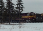 Setting out pulpwood cars in the old Soo Line ore yard