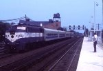 Ronkonkoma train going away