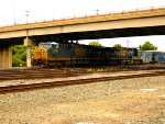 CSX 678, and CSX 370 in Frontier Yard