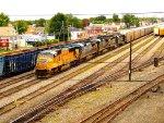 UP 4145, CSX 7613, CSX 7496, CSX 8801, and CSX 6123 in Frontier Yard