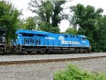 The Conrail Heritage Unit slowing down after the approach signal at MP 116