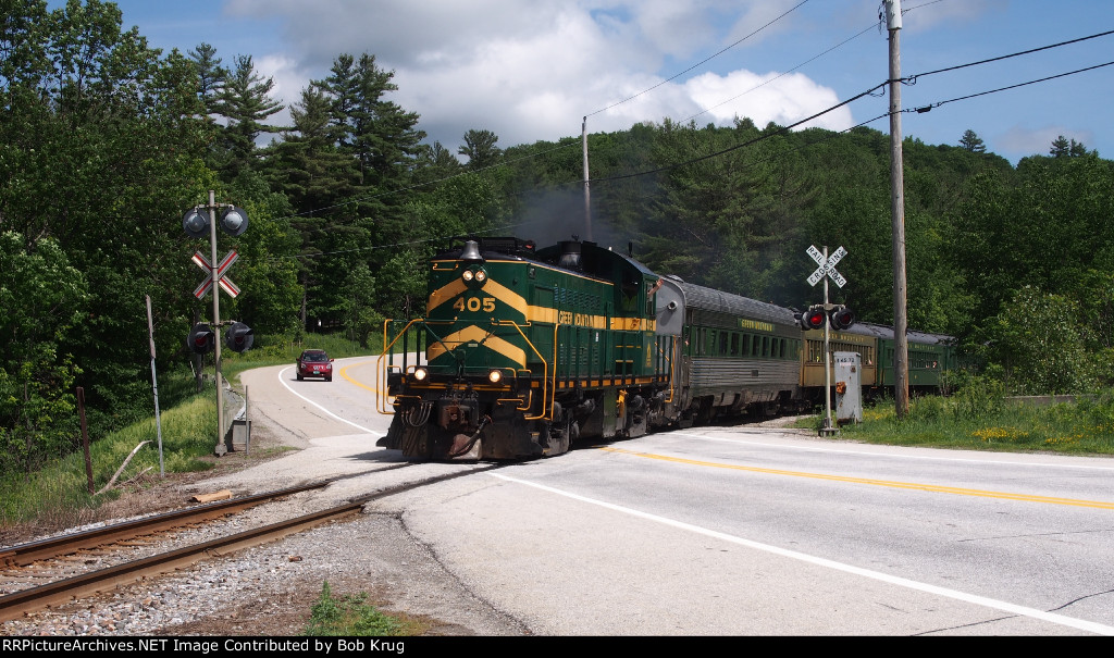 GMRC 405 crosses VT Route 103 westbound