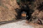 heading down the loops this sb coal train exits ridge tunnel