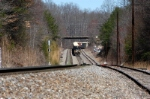66e heads toward the spring switch at the west end of the siding at clinchcross
