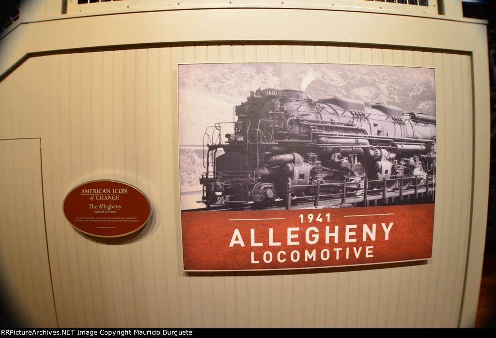 C&O 2-6-6-6 Allegheny #1601 Steam Locomotive
