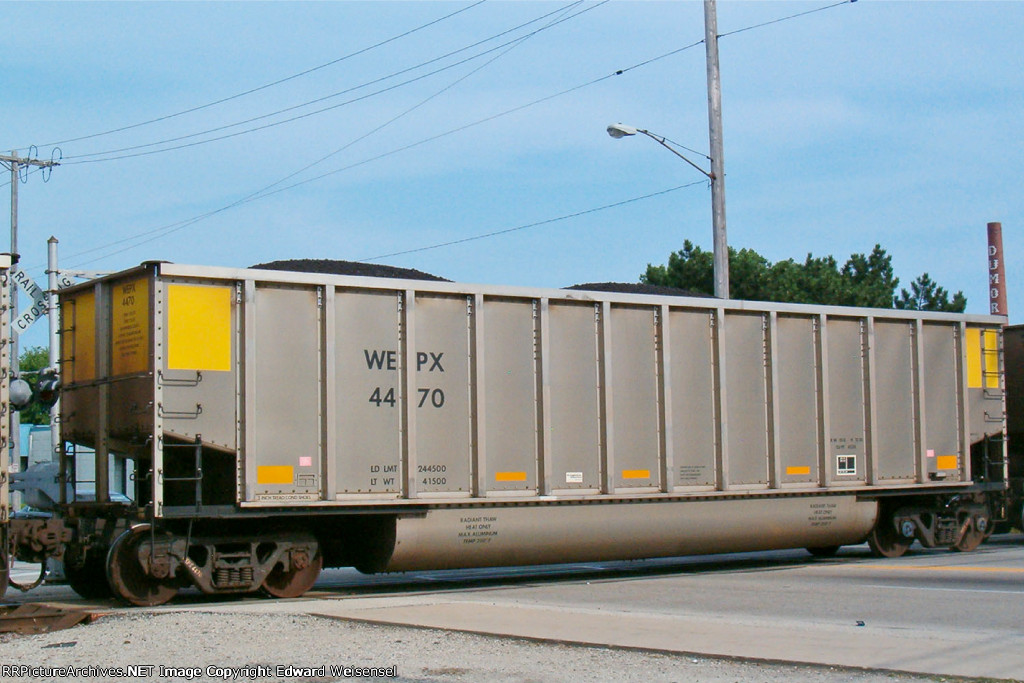 WEPX 4470 is another double-rotary built by FreightCarAmerica in 10/08