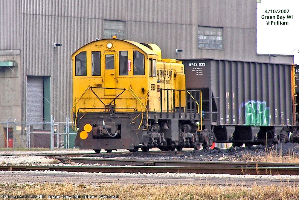 The job is a drag for this Alco S2m rebuilt in the Cleveland GE shops