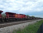 CP 853 coal empties head back to Canada