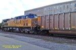 UP 6287 pushes the rear of the Oak Creek coal loads