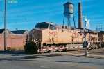 UP 6433 + 5984 head up this Oak Creek coal train