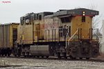 """WEPX Dpu 7112 holds the main at the north end of the """"yard"""""""