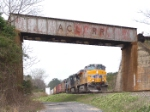 UP 5522 crosses under the CSX overpass