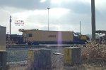 Shoulder Ballast Cleaner backlit - hibernating for the winter in CSX Barr Yard