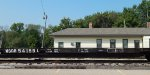 89 footer in front of the former Milwaukee Road depot