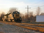 CSX 8837 on K351-6 with vintageg cars