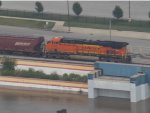 BNSF from the top of the Gateway Arch