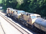 Three Dash-9Ws (One CSX) Wait for a Clear Signal