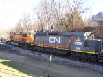 An Interesting Lashup for a CN/IC Freight Train
