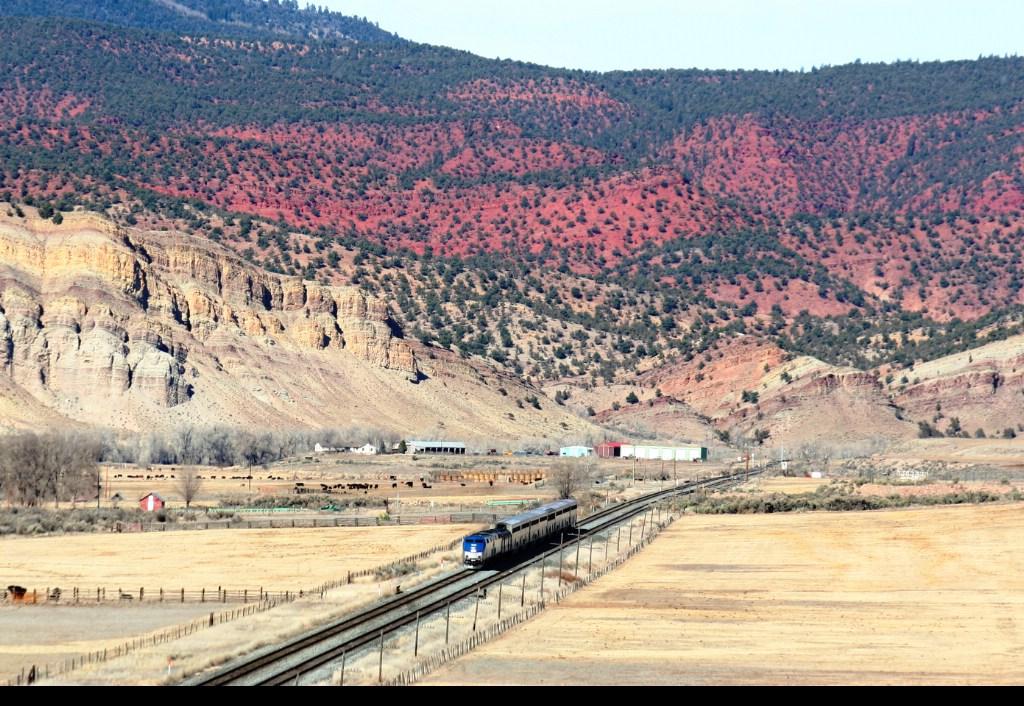 Amtrak's California Zephyr at Range, CO.