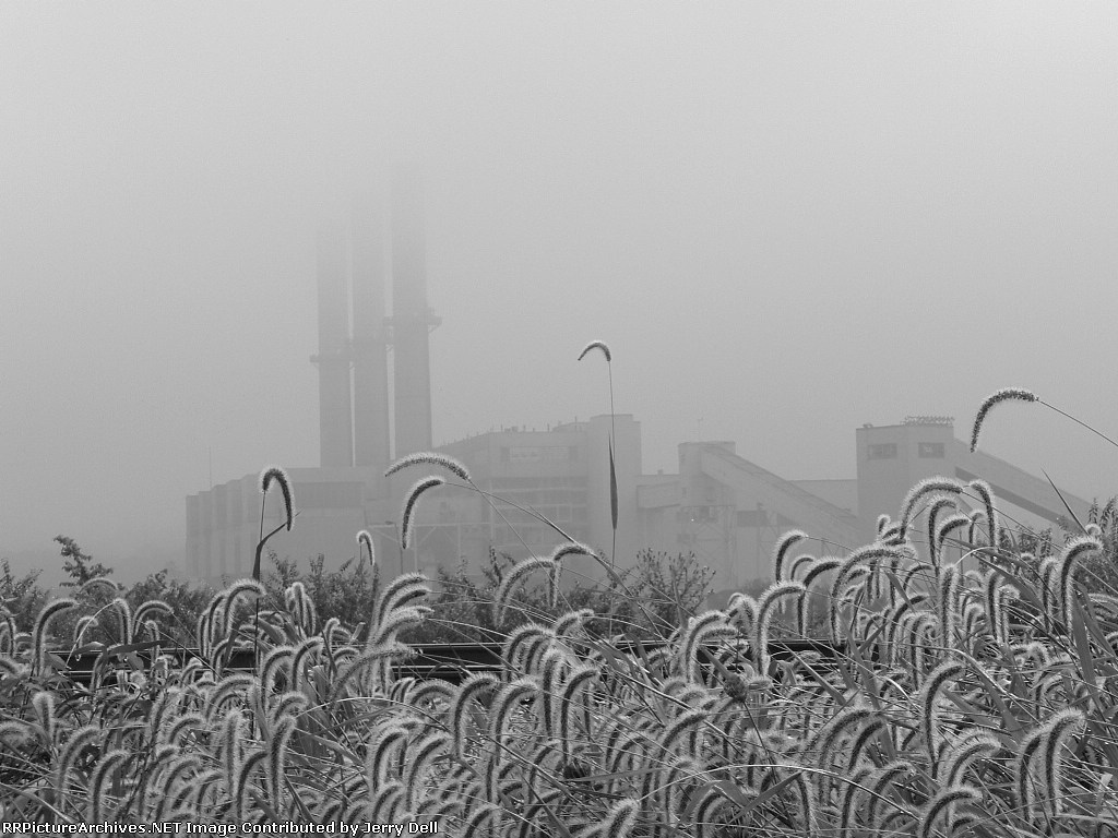 DP&L Power Plant on a very foggy morning