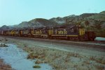 ATSF 3375 leads 5 other GP-35s/GP-30s up the north line towards Sullivan's Curve
