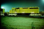 All yellow ATSF new SD-40-2 at San Bernadino
