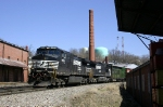NS 15T rolls through the old Tobacco warehouses