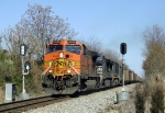 Southbound Coal train splits the signals