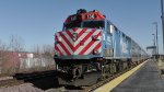 Metra #130 has just arrived in Elburn,IL from OTC in Chicago,IL