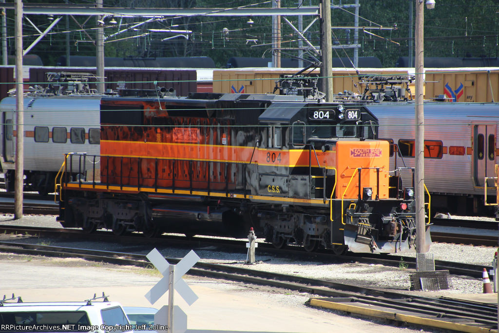New South Shore Freight Train at the Carroll Avenue Yard