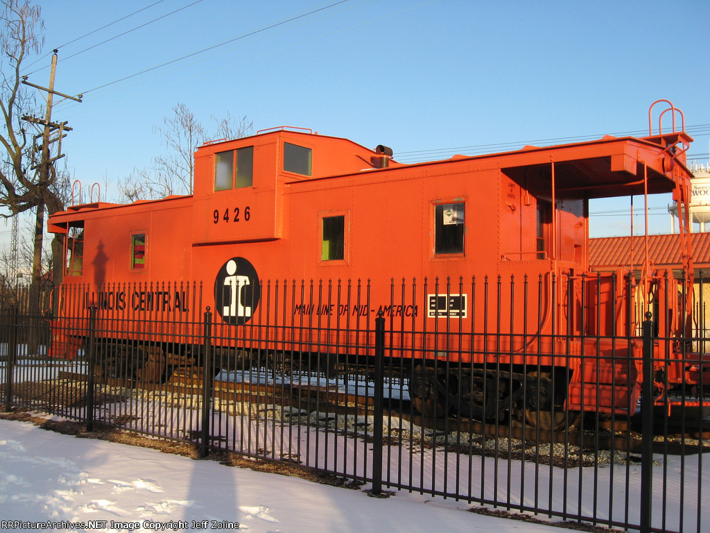 Illinois Central Railroad Caboose at the Homewood Station