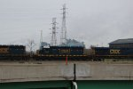 CSX Freight Trains passing the US Steel Gary Works