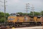 Union Pacific Freight Locomotive at the Waukegan Yard