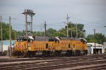 Union Pacific Freight Locomotives at the Waukegan Yard