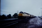 UP 6940 on wet rainy day
