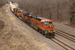 BNSF 6961 Leads a eastbound stack train into Ethel Mo.