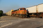 BNSF 5218 Leads a Wb rack train past a EB Z train!