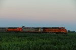 BNSF 7447 Sits tied down with the M-GALKCK.