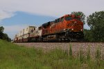 BNSF 7804 Drags a stack train East down the Transcon.