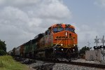 WB BNSF manifest w/ ex-BNSF SD60M trailing 2nd out!