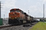EB BNSF oil train w/ ex-SOO SD60 trailing!