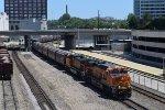 BNSF 8111 leads WB grain train